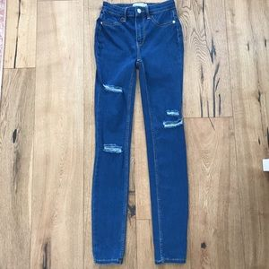 Free People High Waist Distressed Skinny Jean, 24